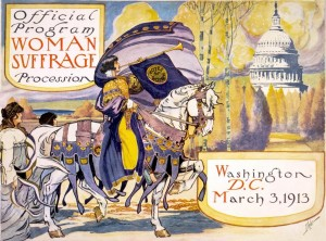 Woman suffrage procession 1913