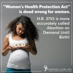 Women's Health Protection Act: Dead Wrong for Women and Children